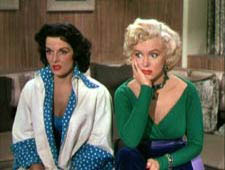 Jane Russell et Marilyn Monroe
