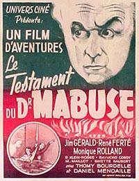 Affiche de la version française : Le Testament du Dr Mabuse