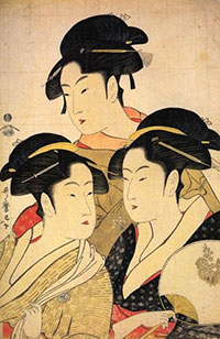 Utamaro - Trois beauts de notre temps