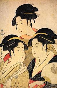 Utamaro - Trois beautés de notre temps